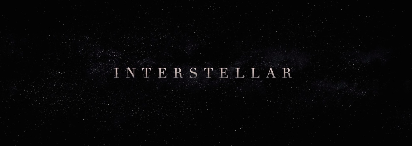 Interstellar movie posters and main title - Fonts In Use