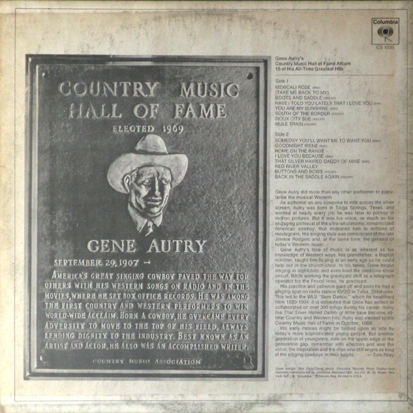 Gene Autry's Country Music Hall of Fame Album 2