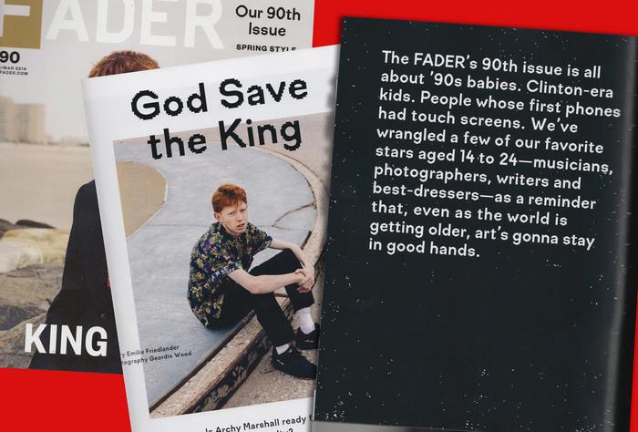 Fader Magazine, Issue 90 2