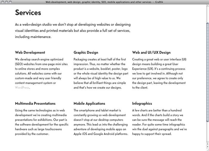 Graftik website 2