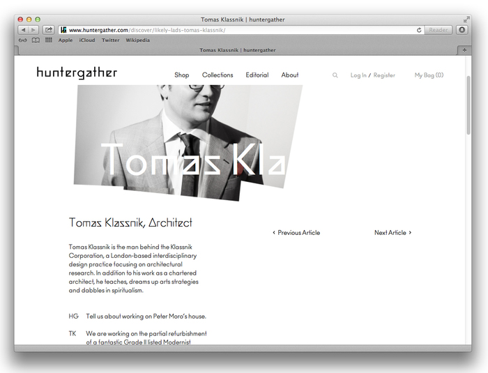 Huntergather website 8