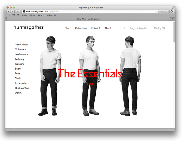 Huntergather website 2