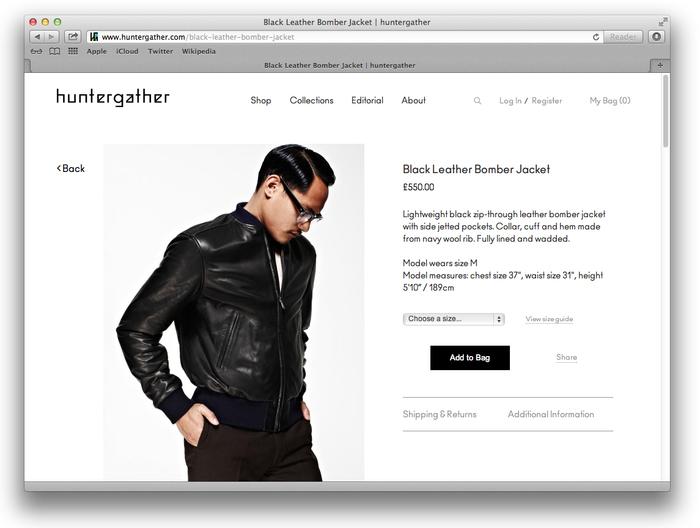 Huntergather website 3