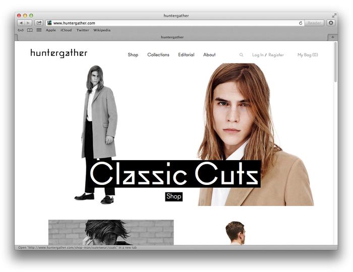 Huntergather website 1