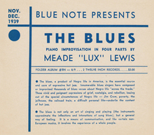 <cite>The Blues</cite> release sheet