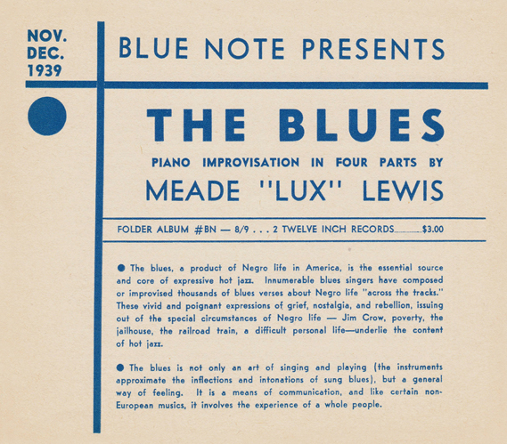 The Blues release sheet
