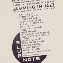 <cite>Jamming in Jazz</cite> concert poster