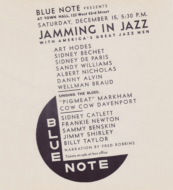Jamming in Jazz concert poster
