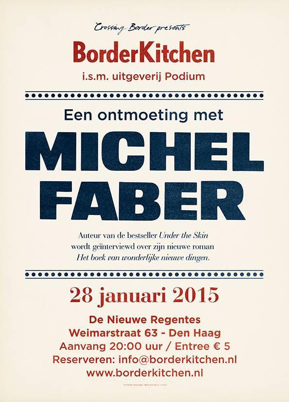 BorderKitchen Een ontmoeting met Michel Faber 1