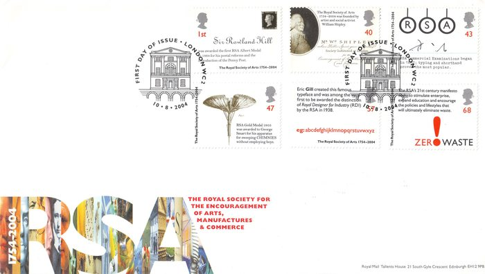Royal Society of Arts 250th Anniversary stamps 4