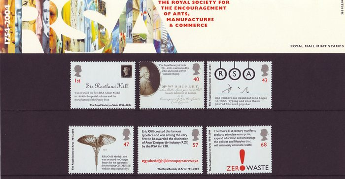 Royal Society of Arts 250th Anniversary stamps 6