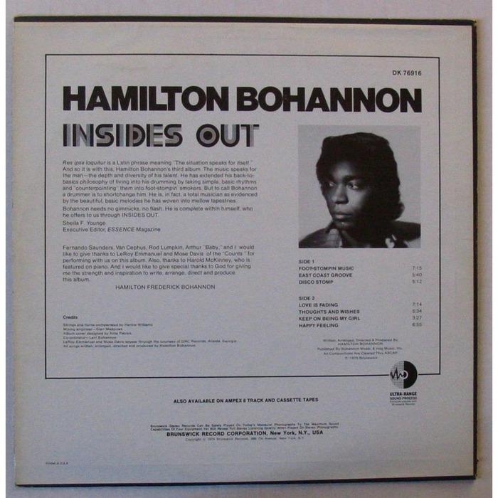 Bohannon – Insides Out album art 2