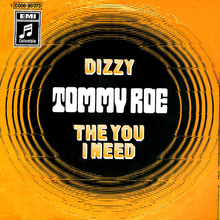 "Tommy Roe – ""Dizzy"" / ""The You I Need"" German single cover"