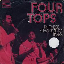 "The Four Tops – ""Barbara's Boy"" / ""Look Out Your Window"" (1970) and ""In These Changing Times"" / ""Right Before My Eyes"" (1971) German single sleeves"