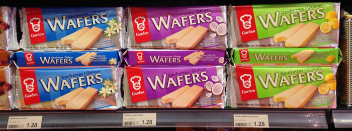 Garden Wafers packaging