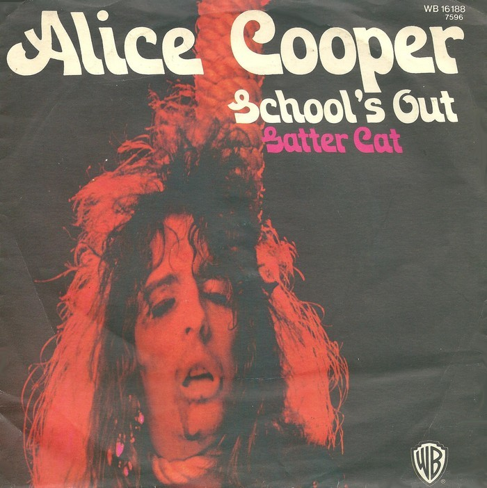 """Alice Cooper – """"School's Out""""/ """"Gutter Cat"""" German single covers 1"""