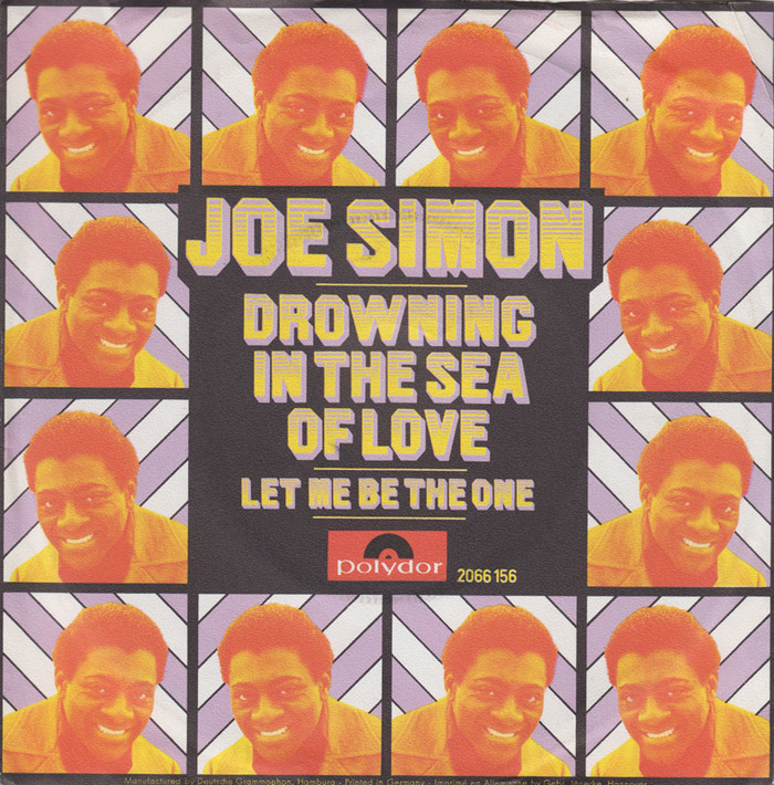 """Joe Simon – """"Drowning in the Sea of Love""""/ """"Let Me Be The One"""" German single cover"""