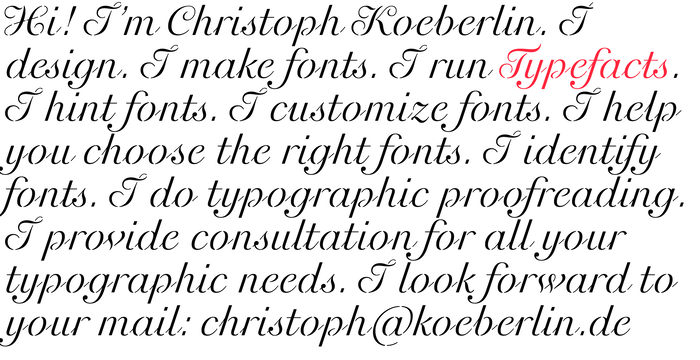 Christoph Koeberlin personal site
