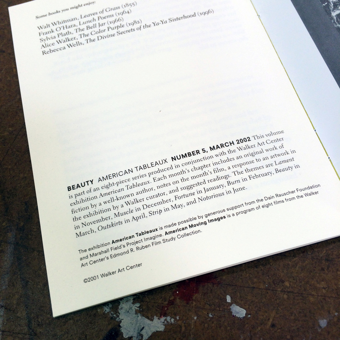 American Tableaux booklets 8