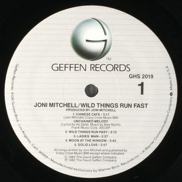 Wild Things Run Fast by Joni Mitchell, 1982.