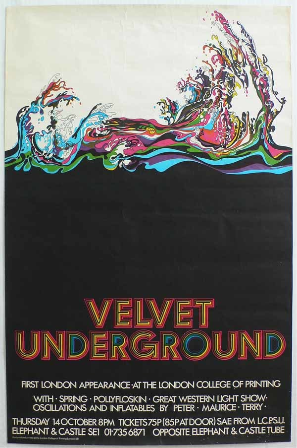 Velvet Underground at The London College of Printing