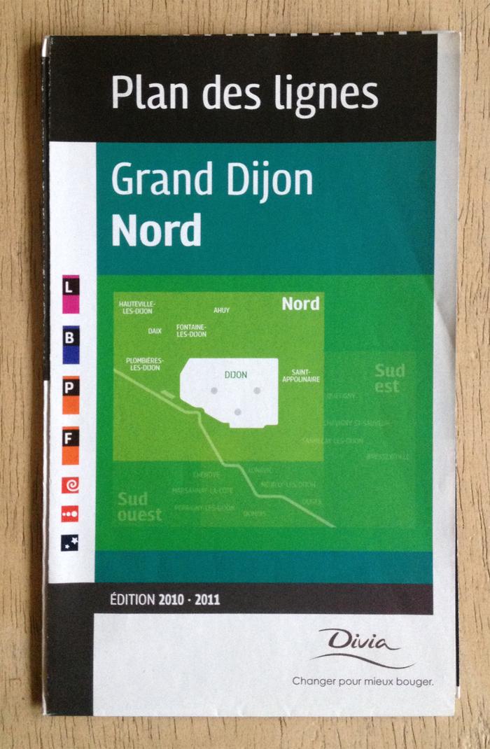 Divia public transit plans, Ville de Dijon 1