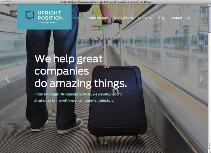 Upright Position Communications website 5