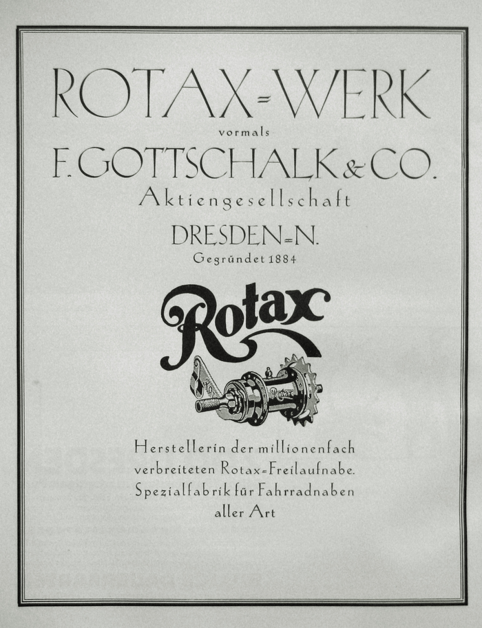 Ad for Rotax-Werk