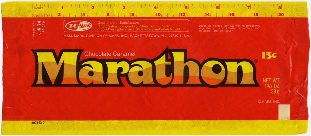 Marathon chocolate caramel - Fonts In Use
