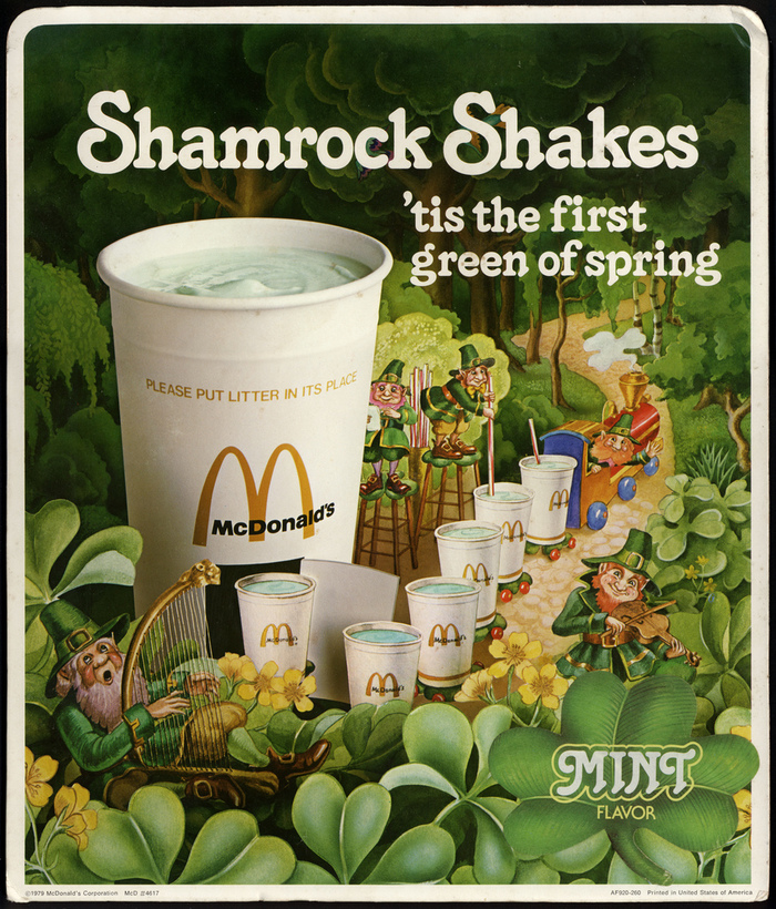 Shamrock Shake ad by McDonald's