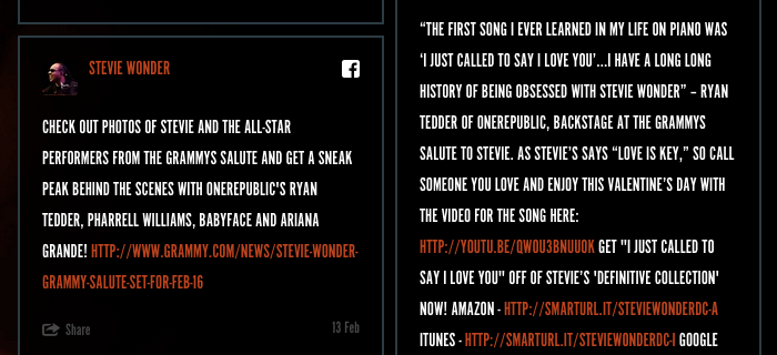 Stevie Wonder website 5