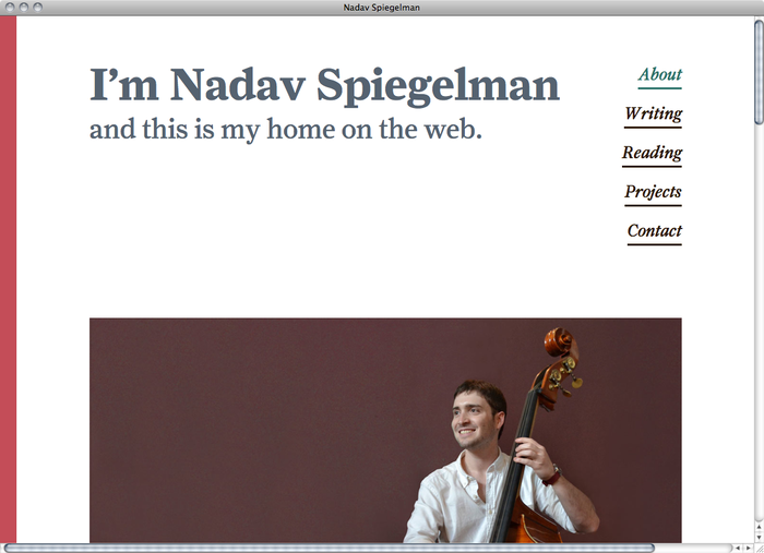 Nadav Spiegelman website 1