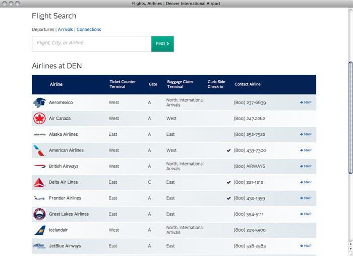 Denver International Airport website 2