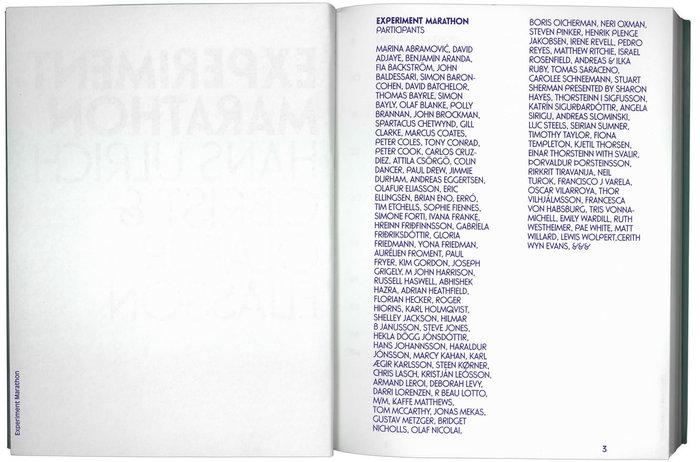 Experiment Marathon by Hans Ulrich Obrist & OlafurEliasson 2