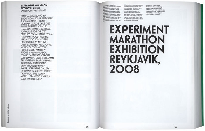Experiment Marathon by Hans Ulrich Obrist & OlafurEliasson 3
