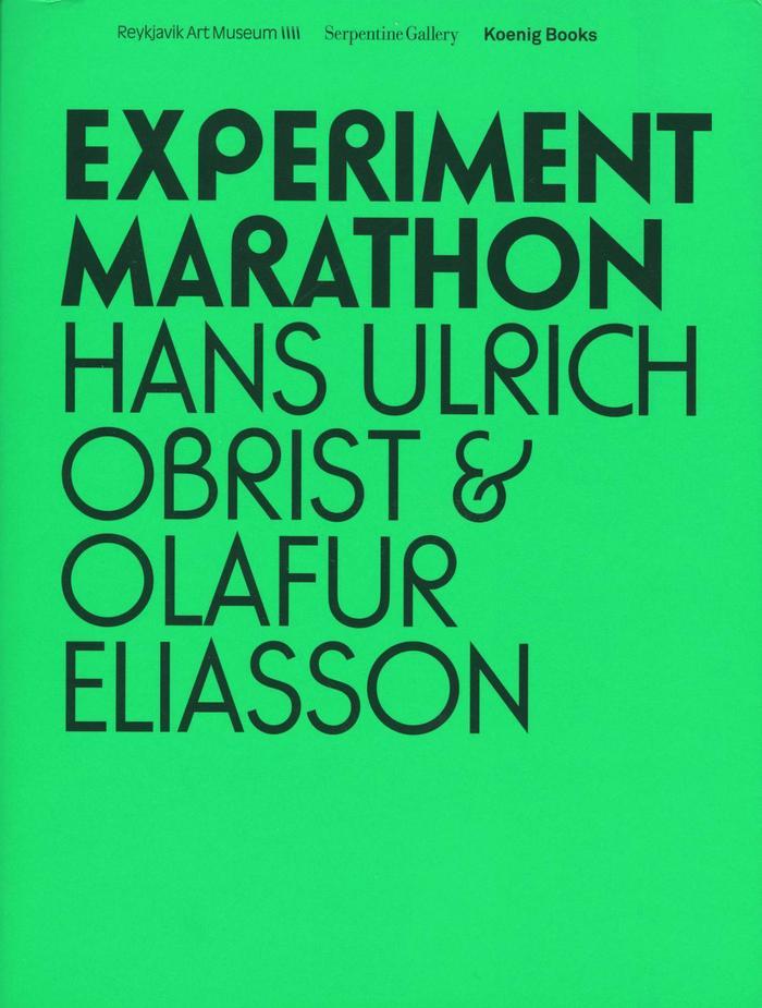 Experiment Marathon by Hans Ulrich Obrist & OlafurEliasson 6