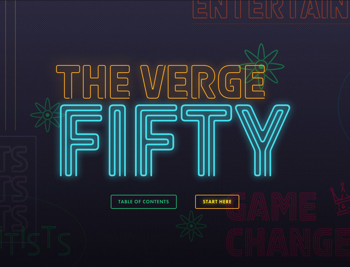 The Verge Fifty (2014) 1