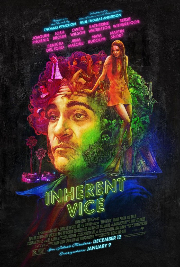 Inherent Vice posters, promo art, and jacket design 1