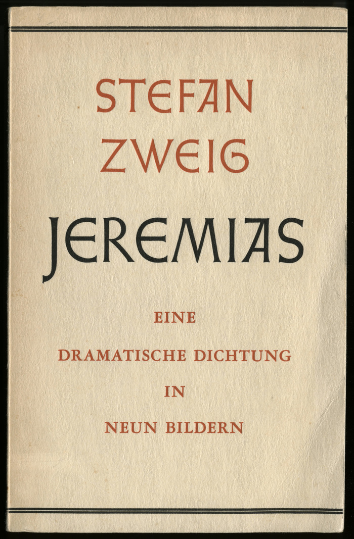 Jeremias by Stefan Zweig