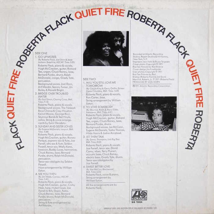 Roberta Flack – Quiet Fire album art 2