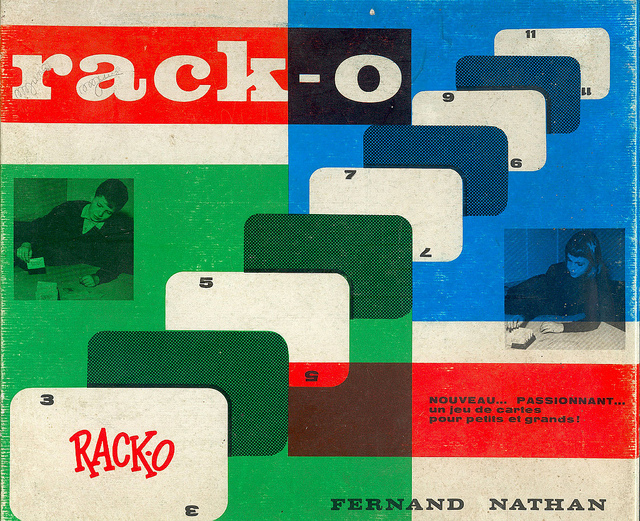 Rack-o game, French edition 2