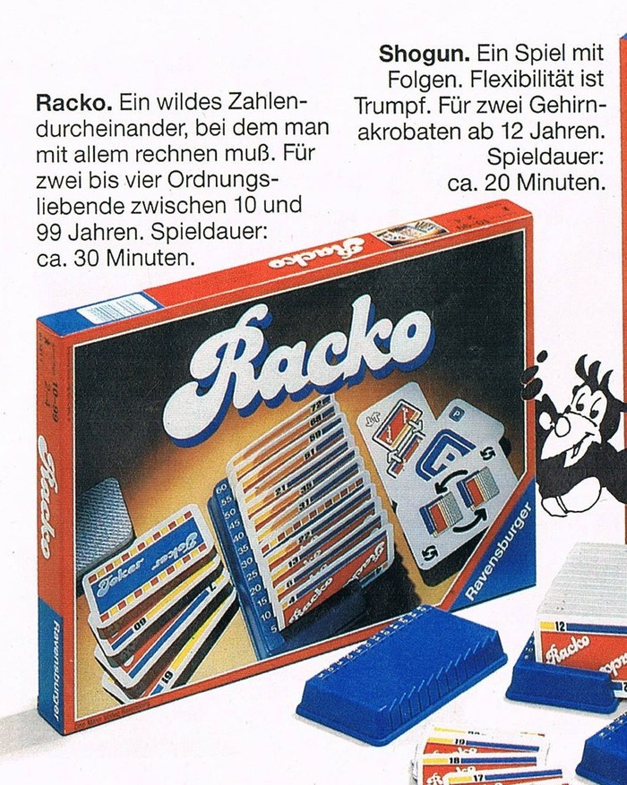 Racko (Rack-o), Ravensburger edition 2
