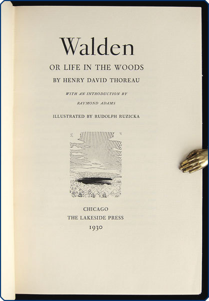 Walden, or Life in the Woods (The Lakeside Press edition) 2