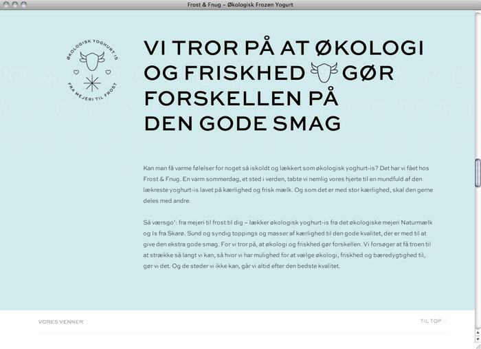 Frost & Fnug website 2