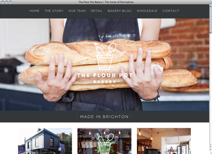The Flour Pot Bakery website 1