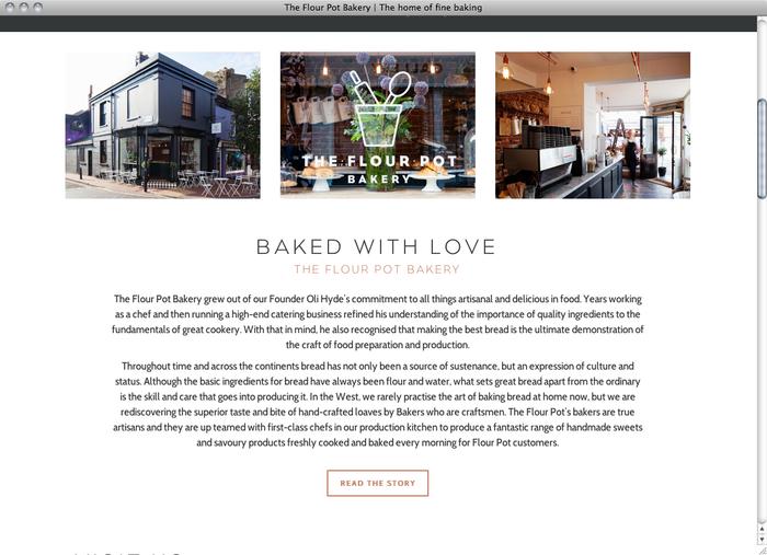 The Flour Pot Bakery website 2