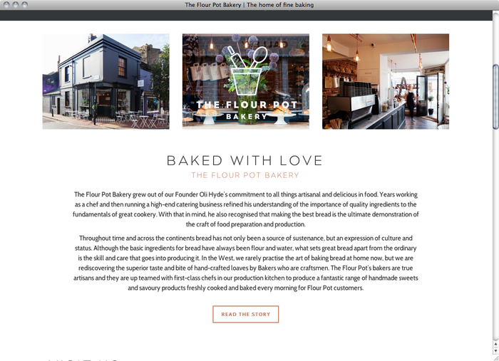 The Flour Pot Bakery website 2