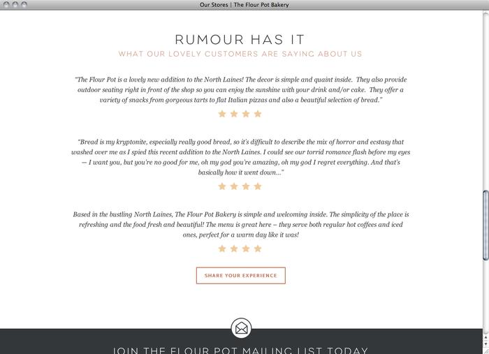 The Flour Pot Bakery website 5