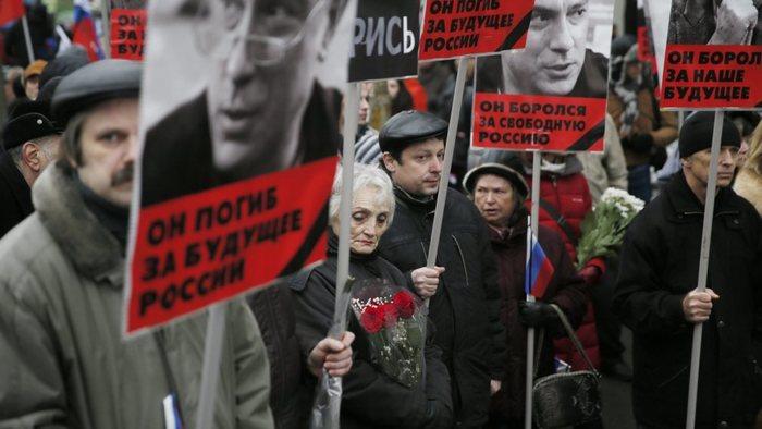 Placards of Nemtsov