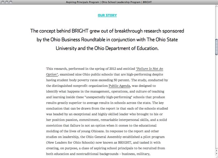 Bright Ohio website 2
